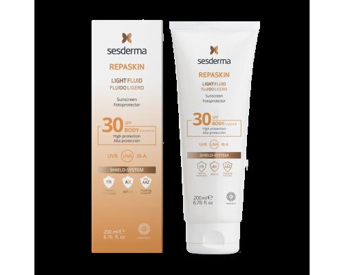 REPASKIN LIGHT FLUID Body sunscreen SPF 30 – Флюид нежный солнцезащитный  для тела СЗФ 30, 200 мл