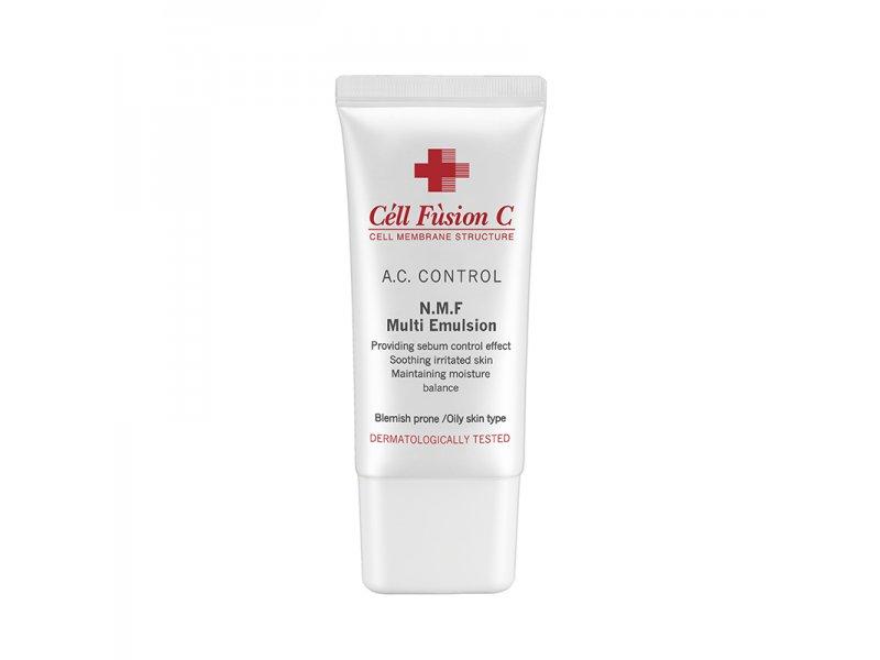 Восстанавливающая эмульсия для обезвоженной жирной кожи лица  Cell Fusion C N.M.F. Multi Emulsion 50 МЛ  Применение