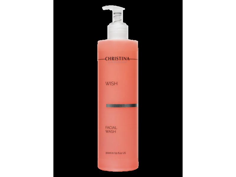 Гель для умывания 300 мл Wish Facial Wash  Применение