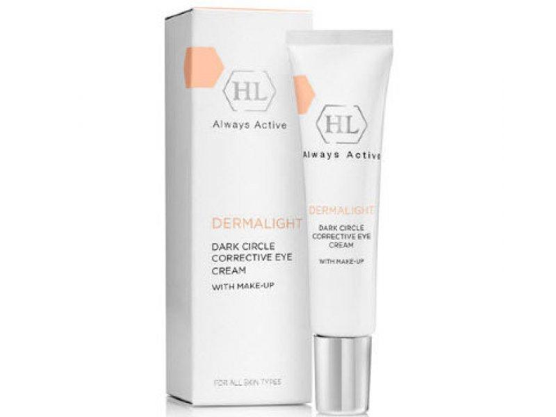 Осветлящий крем с тоном DERMALIGHT Dark Circle Corrective Eye Cream Make-Up 15 мл  Применение