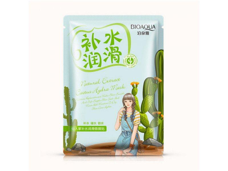 Увлажняющая маска с экстрактом кактуса Bioaqua Natural Extract, 30гр  Применение