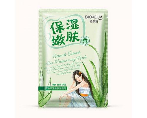 Успокаивающая маска с экстрактом алоэ Bioaqua Natural Extract, 30гр