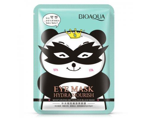 Тканевая маска для кожи вокруг глаз Bioaqua Hydra Nourish снимающая усталость, 15гр