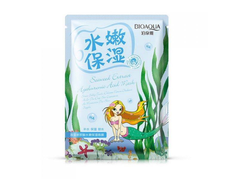 Омолаживающая маска с морскими водорослями Bioaqua Natural Extract, 30гр  Применение