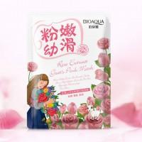 Bioaqua Natural Extract Отбеливающая маска с козьим молоком и экстрактом из розы, 30 г