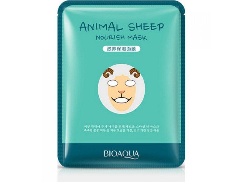 Bioaqua Animal Face Sheep Осветляющая маска, 30 г  Применение