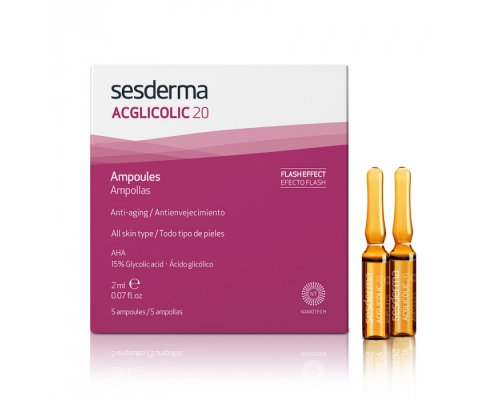 ACGLICOLIC 20 Ampoules – Средство в ампулах с гликолевой кислотой, 5 шт по 2мл