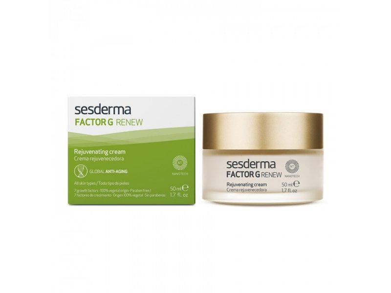 Крем для лица омолаживающий Sesderma FACTOR G RENEW Rejuvenating cream 50 мл  Применение