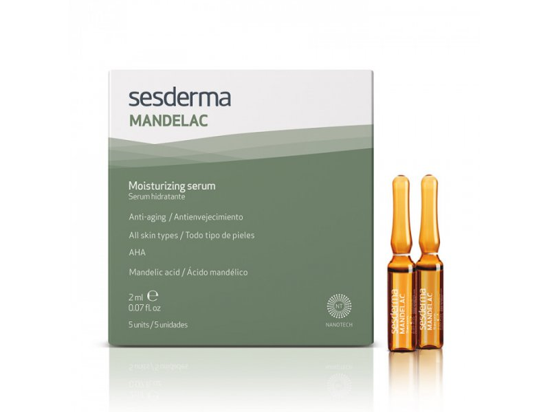 MANDELAC Moisturizing serum – Сыворотка увлажняющая, 5 шт. по 2 мл  Применение