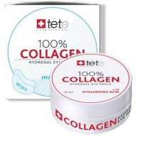 Гидроколлагеновые патчи для глаз 100% collagen hydrogel eye patch TETe