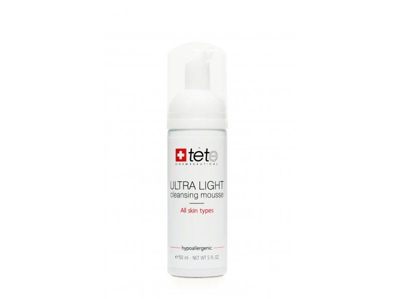 Ультра легкий мусс для умывания TETe Ultra Light Cleansing Mousse 150 мл  Применение
