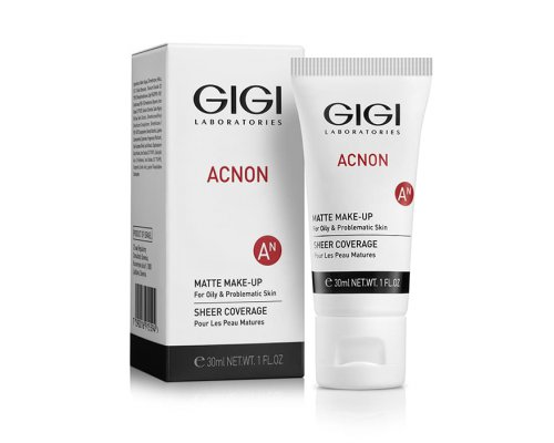 Gigi Matte makeup - Крем-тон матирующий для проблемной и жирной кожи, 30 мл