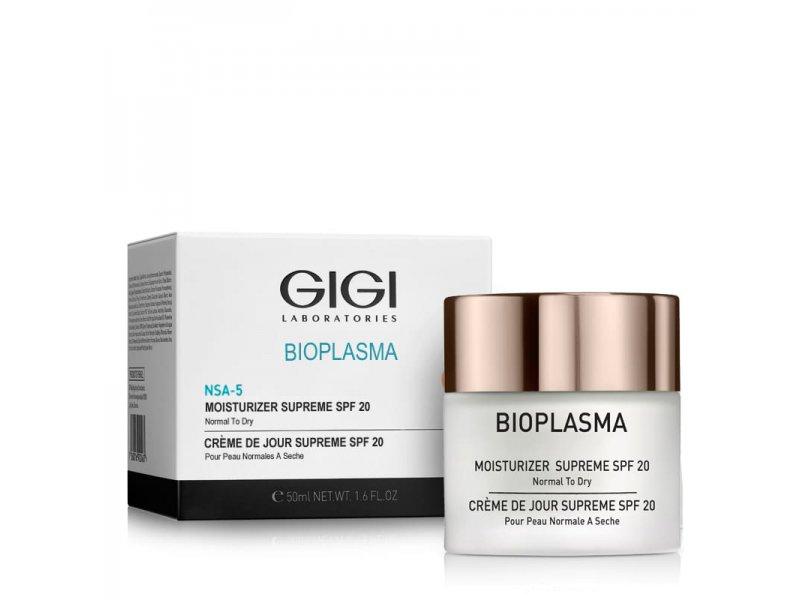 Gigi Bioplasma NSA-5 Moisturizer Supreme SPF 20 - Крем увлажняющий для сухой кожи, 50 мл  Применение