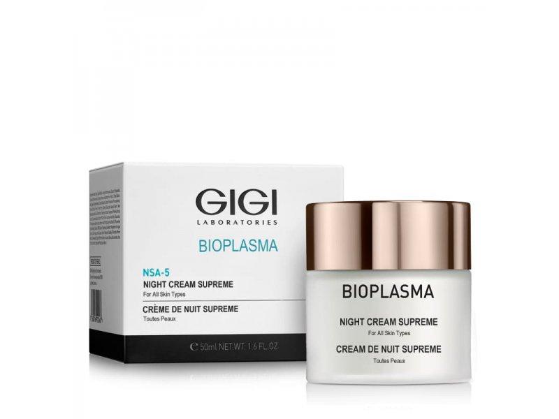 Gigi Bioplasma NSA-5 Night Cream Supreme - Крем ночной, 50 мл.  Применение