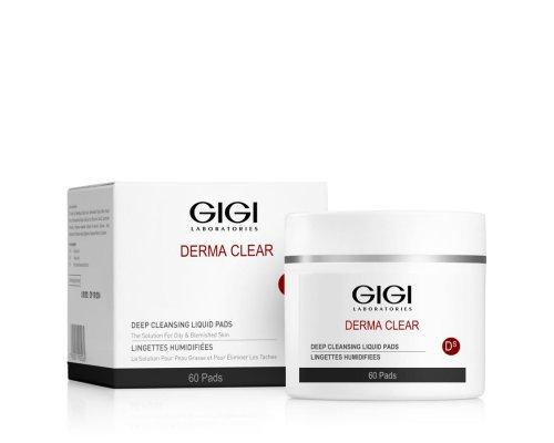 Gigi DERMA CLEAR Deep Cleansing Liquid Pads - Диски очищающие 60 шт