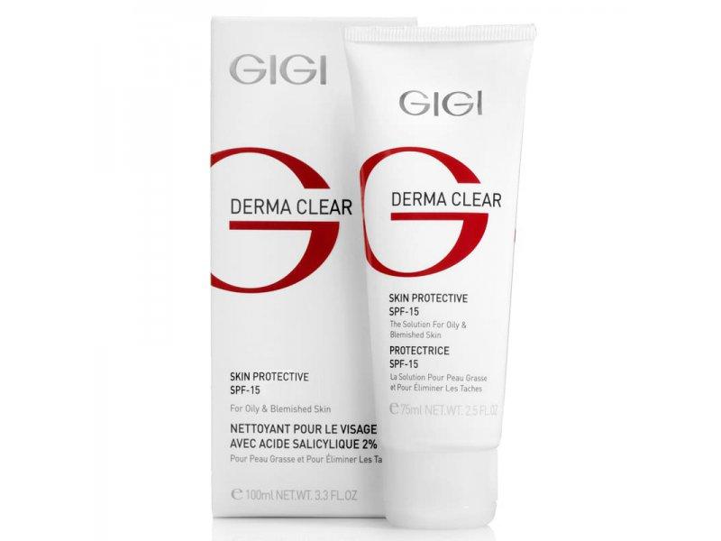 Gigi DERMA CLEAR Skin Protective SPF 15 - Крем увлажняющий защитный SPF 15, 75 мл.