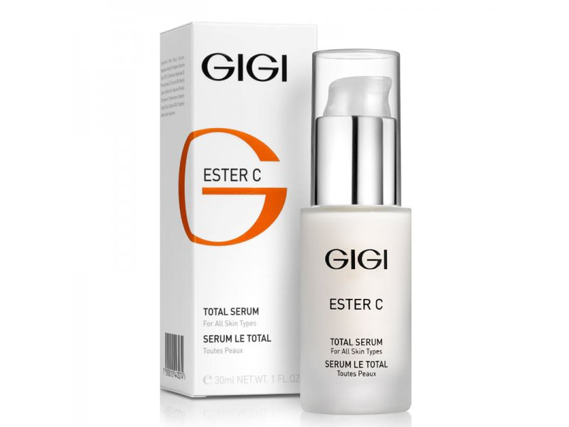 Сыворотка с витамином С и эффектом осветления кожи Gigi Ester С Total Serum 30 мл  Применение