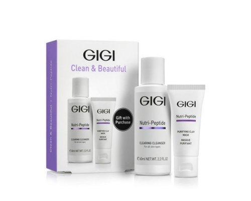 Gigi NUTRI-PEPTIDE Clean & Beautiful - Дорожный набор для идеально чистой кожи, 1 шт