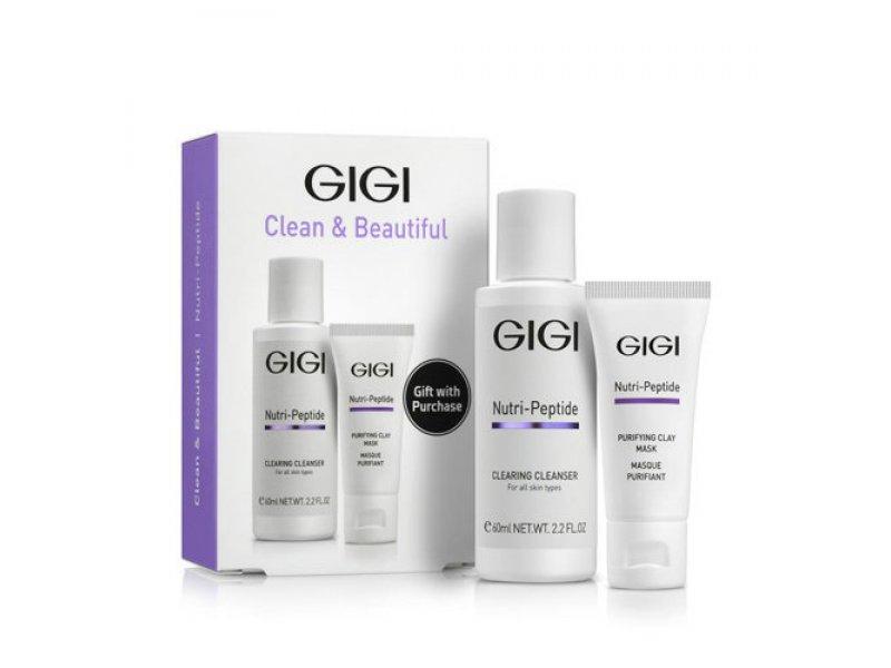 Gigi NUTRI-PEPTIDE Clean & Beautiful - Дорожный набор для идеально чистой кожи, 1 шт  Применение