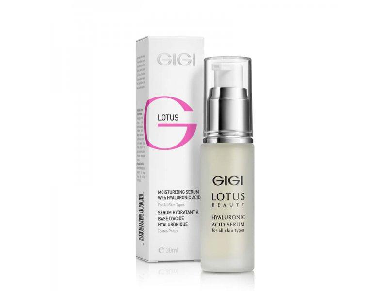Сыворотка для лица с гиалуроновой кислотой Gigi LOTUS BEAUTY Moisturizing Serum 30мл  Применение