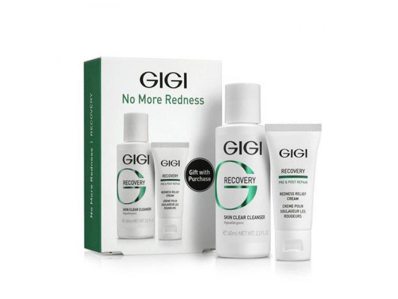 Gigi Recovery Skin No More redness - Дорожный набор для чувствительной и поврежденной кожи, уп.  Применение