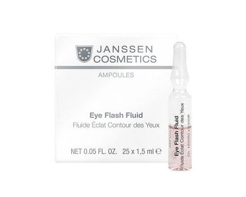 Увлажняющая и восстанавливающая сыворотка в ампулах для контура глаз  Janssen Eye Flash Fluid