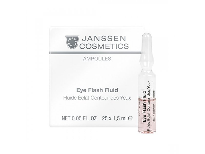 Увлажняющая и восстанавливающая сыворотка в ампулах для контура глаз  Janssen Eye Flash Fluid   Применение