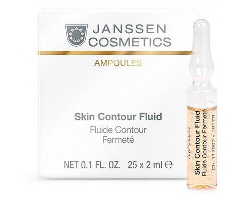 Лифтинг-сыворотка в ампулах с пептидами, стимулирующими синтез эластина Janssen Skin Contour Fluid Anti-age