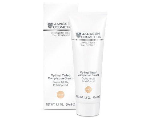Легкий дневной крем с тонирующим эффектом Janssen Optimal Tinted Complexion Cream Medium SPF 10