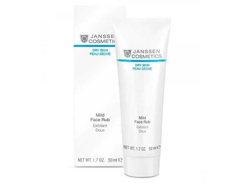Janssen Мягкий скраб для ухода за кожей лица с гранулами жожоба Mild Face Rub   Применение