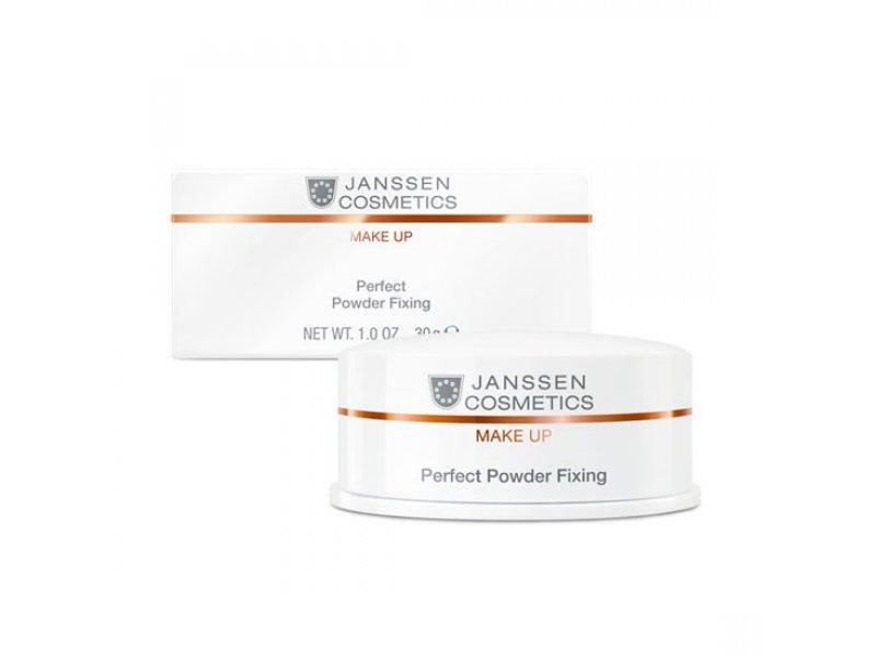 Специальная пудра для фиксации макияжа Janssen Perfect Powder Fixing  Применение