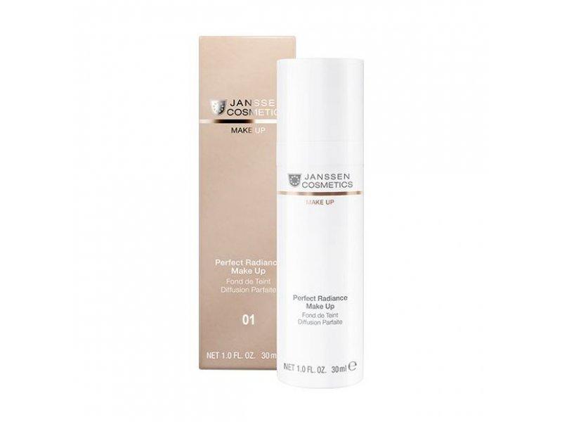 Стойкий тональный крем с UV-защитой SPF-15 для всех типов кожи Janssen Perfect Radiance Make-up №01 Порцелан  Применение
