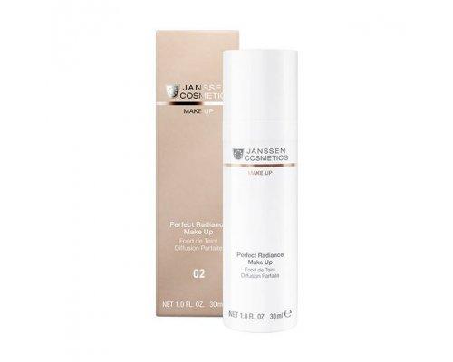 Janssen Стойкий тональный крем с UV-защитой SPF-15 для всех типов кожи Perfect Radiance Make-up №02 Олива