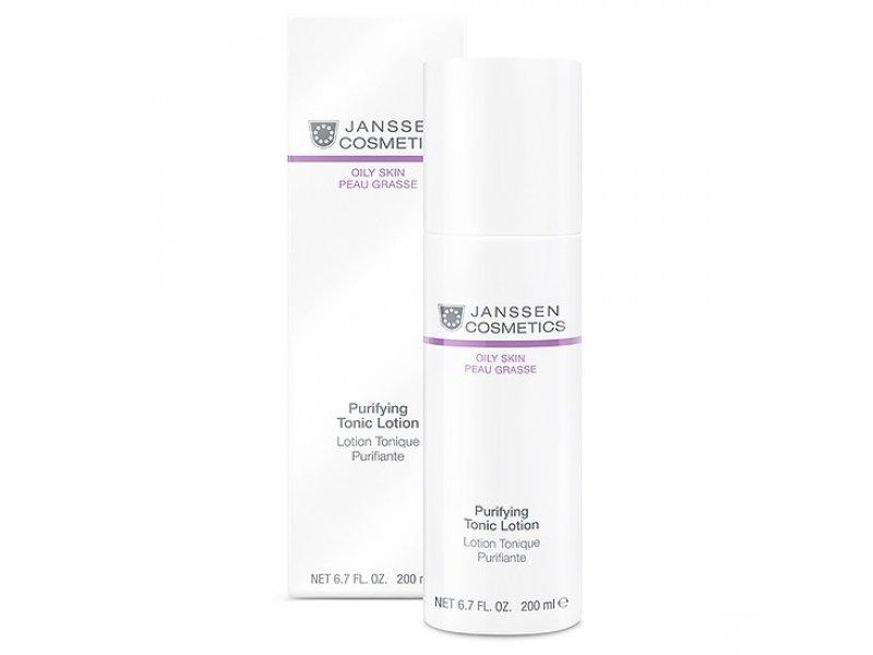 Тоник для жирной кожи и кожи с акне Janssen Cosmetics Purifying Tonic Lotion  Применение