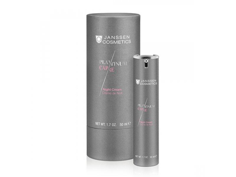 Janssen Реструктурирующий антивозрастной ночной крем с коллоидной платиной Night Cream  Применение