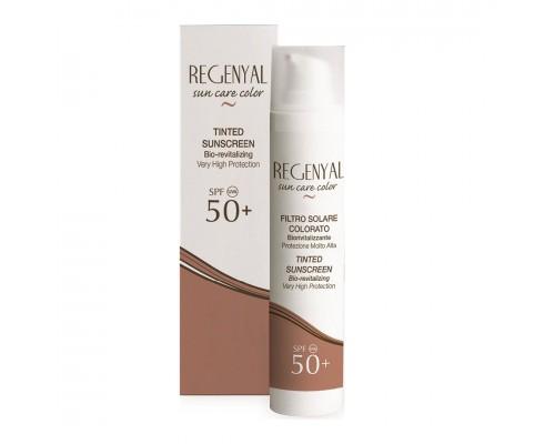 Regenyal Filtro Solare Colorato sun care color SPF 50+ Солнцезащитный крем-фильтр для лица с тонирующим эффектом, 50 мл
