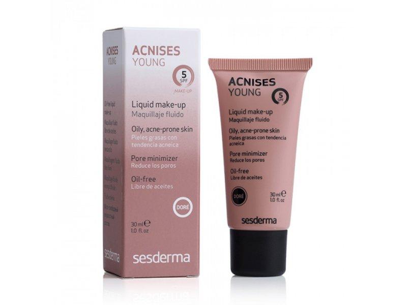 ACNISES YOUNG Gel Cream – Жидкий тональный крем с SPF 5 (Темный тон), 30 мл