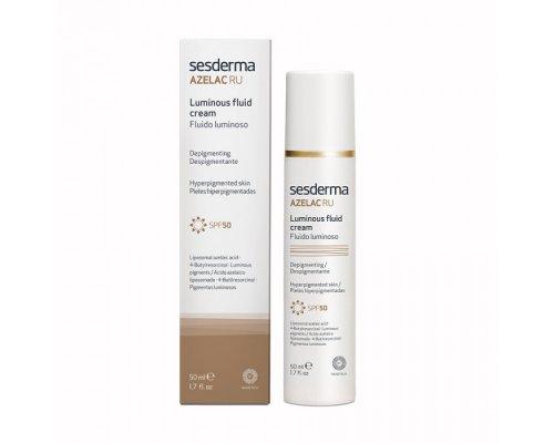 Sesderma AZELAC RU Luminous Fluid Cream SPF50 - Флюид для сияния кожи, 50 мл
