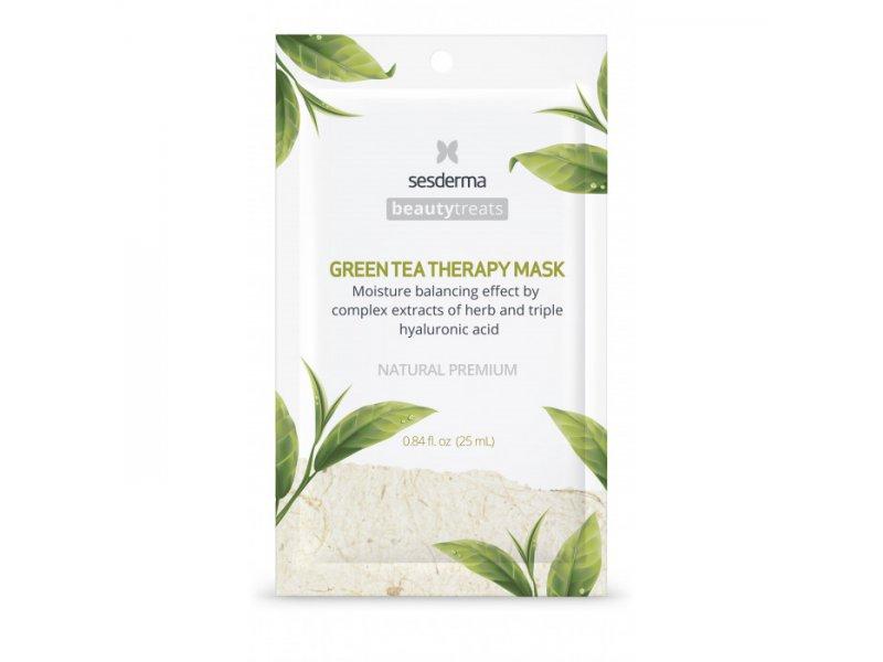 BEAUTY TREATS Green tea therapy mask - Маска увлажняющая для лица, 1 шт   Применение