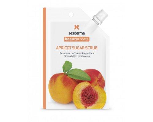 Маска-скраб для кожи лица BEAUTY TREATS Apricot sugar scrub mask -25мл