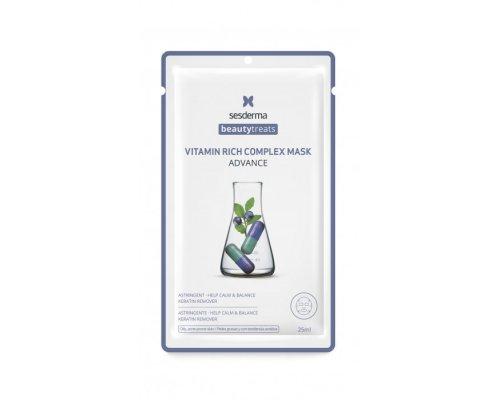 Sesderma BEAUTY TREATS Vitamin rich complex mask Маска для сияния кожи, 25 мл
