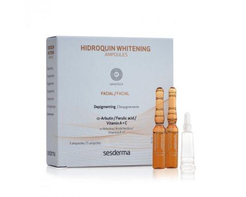 Депигментирующее средство в ампулах для лица HIDROQUIN Whitening Ampoules 5шт * 2мл