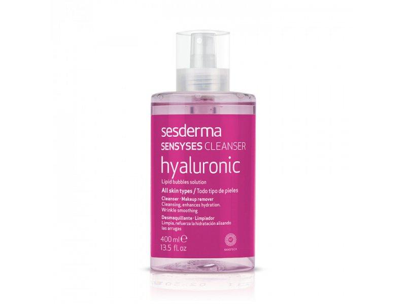 Лосьон липосомальный увлажняющий антивозрастной для снятия макияжа SENSYSES CLEANSER Hyaluronic 400 мл  Применение