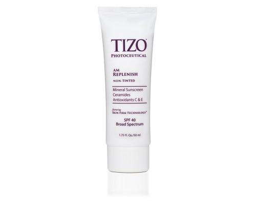 TIZO AM Replenish SPF 40 Non-Tinted Дневной питательный крем, 50 мл