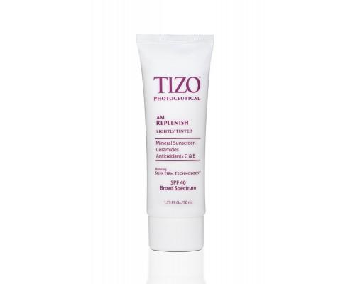 TIZO Photoceutical AM Replenish SPF 40 Lightly Tinted Дневной питательный крем с оттенком, 50 мл