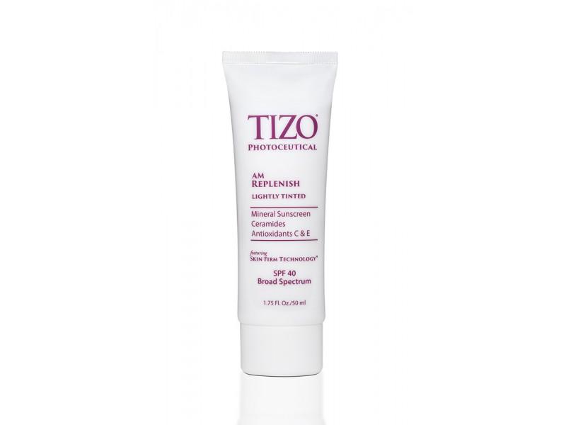 TIZO Photoceutical AM Replenish SPF 40 Lightly Tinted Дневной питательный крем с оттенком