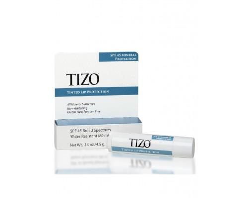 TIZO Tinted Lip Protection SPF 45 Крем для губ солнцезащитный, 4,5 мл