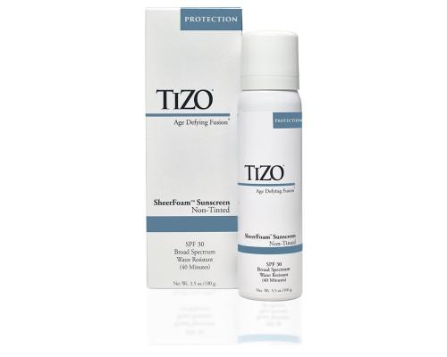 TIZO SheerFoam Non-Tinted Спрей солнцезащитный для лица и тела SPF 30, 100 мл