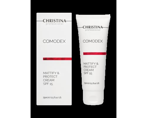 Матирующий защитный крем SPF 15, 75 мл Comodex Mattify & Protect Cream SPF 15