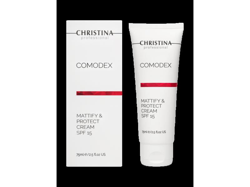 Матирующий защитный крем SPF 15, 75 мл Comodex Mattify & Protect Cream SPF 15  Применение